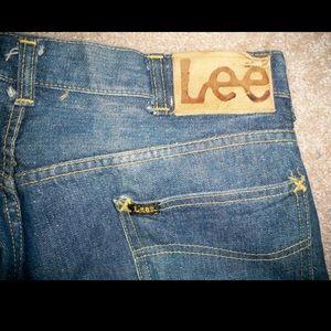 Vtg LEE Selvedge Denim Sanforized Men's Jeans 33